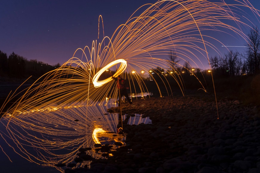 Always practise first when attempting steel wool photography