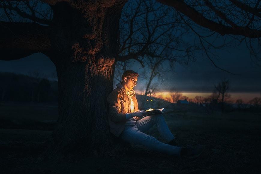 illumination from book
