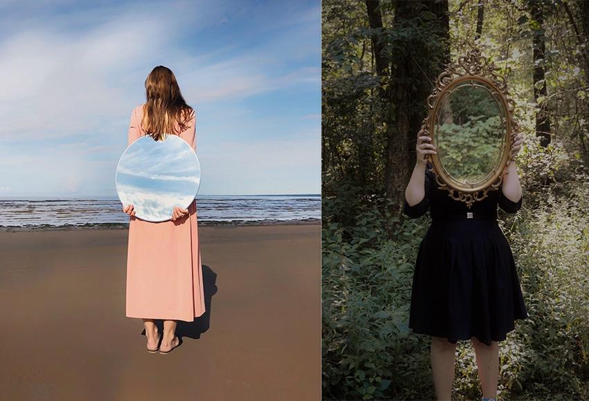 surreal mirror shots