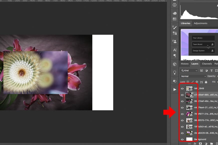Adding multiple images as smart layers in Photoshop