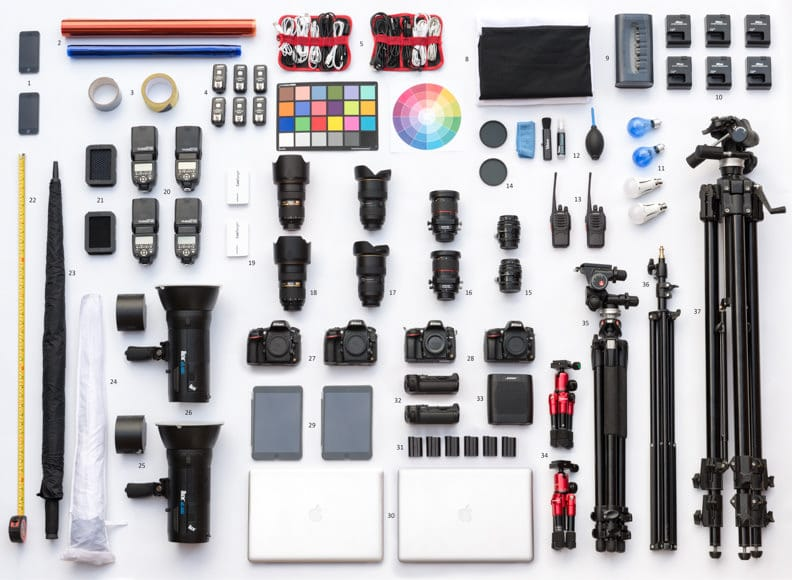 equipment used by architectural photographers