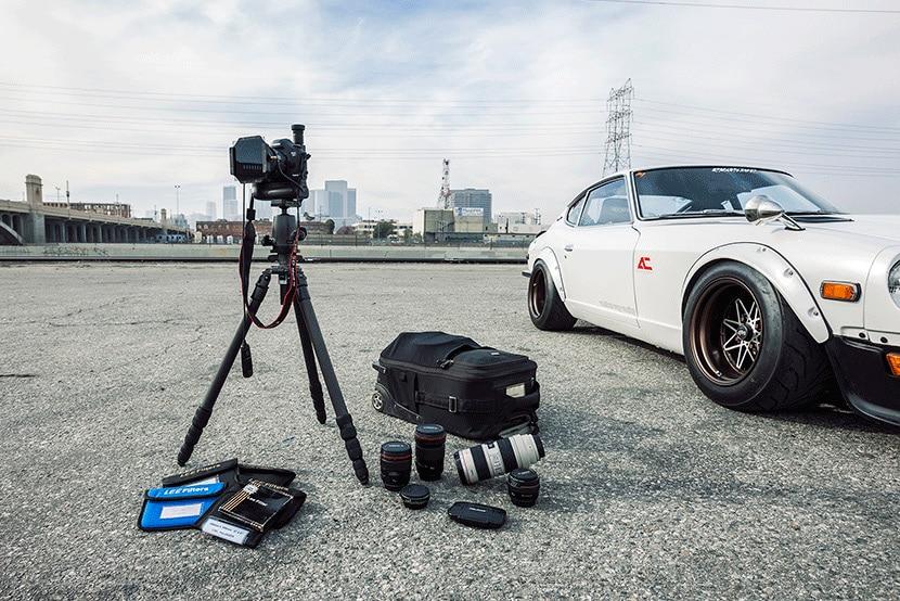Car photographer gear