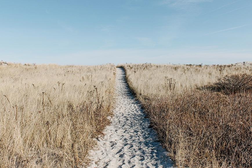 prairie sandy path
