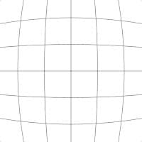 Illustration grid showing barrel distortion