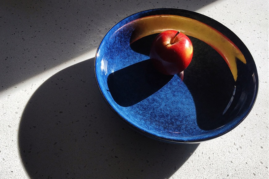 Conceptual still life with apple