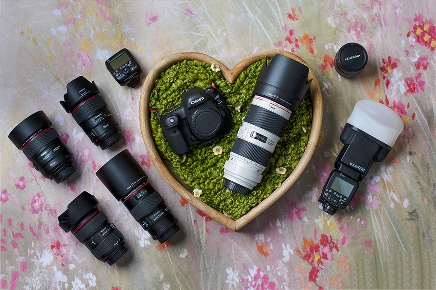 Gear of family photographer Lindy Clarbull