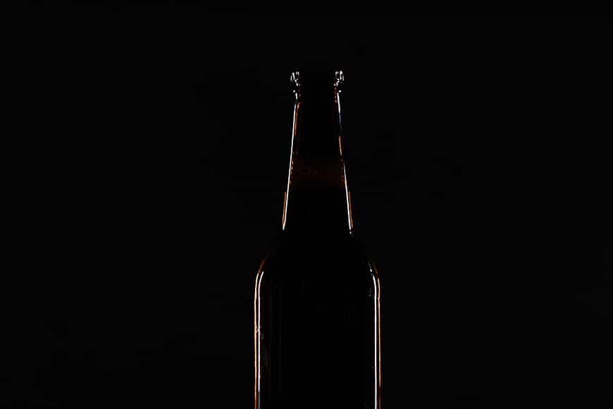 Bottle with illuminated outline