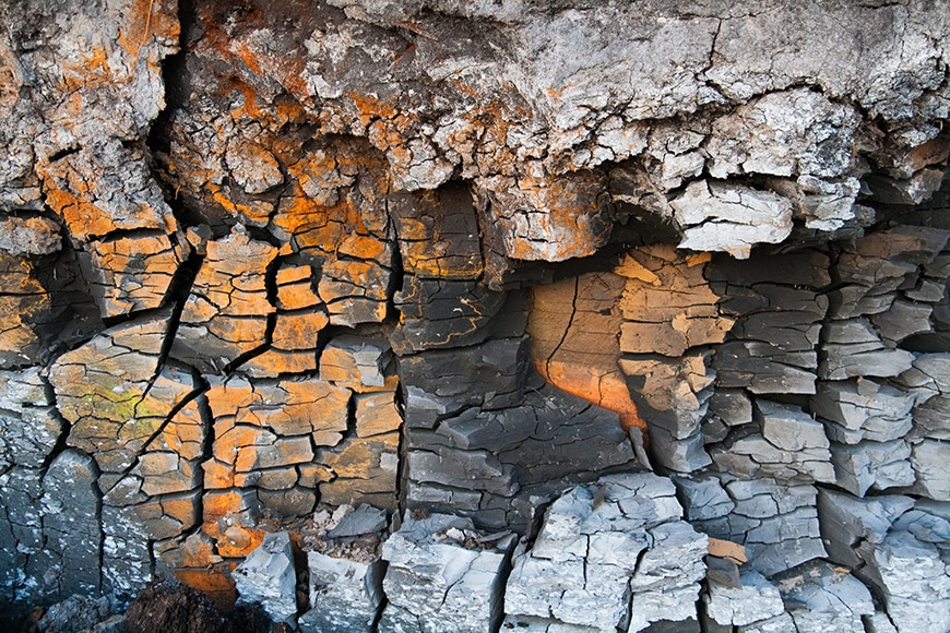 Texture of rock face