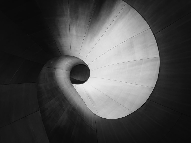 Architecture photography - a beautiful spiralling staircase