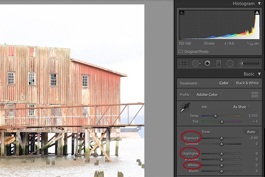 How to fix an overexposed photo