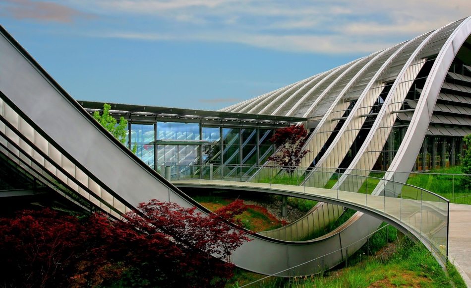 Beautiful curved architecture