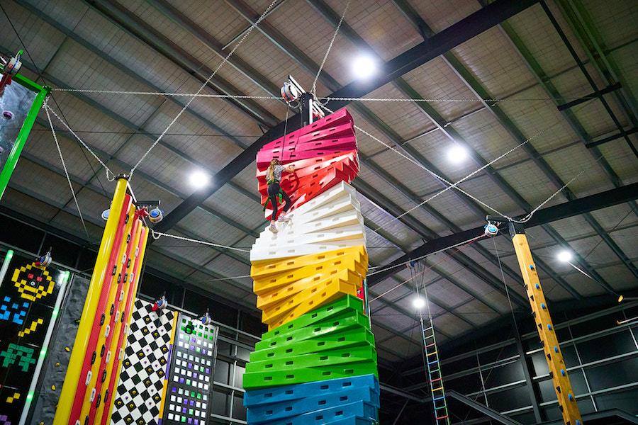Kids climbing indoor rock climbing centre
