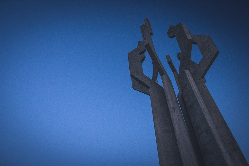 Abstract sculpture against sky as an example of use of negative space