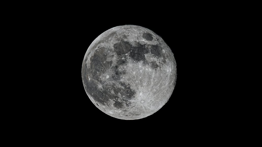 Moon photographed with telescope