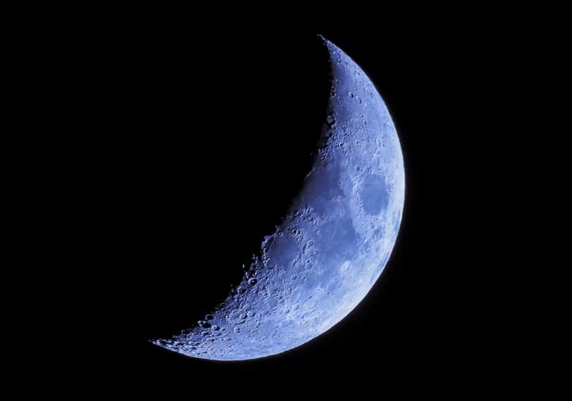 Astrophotography of moon