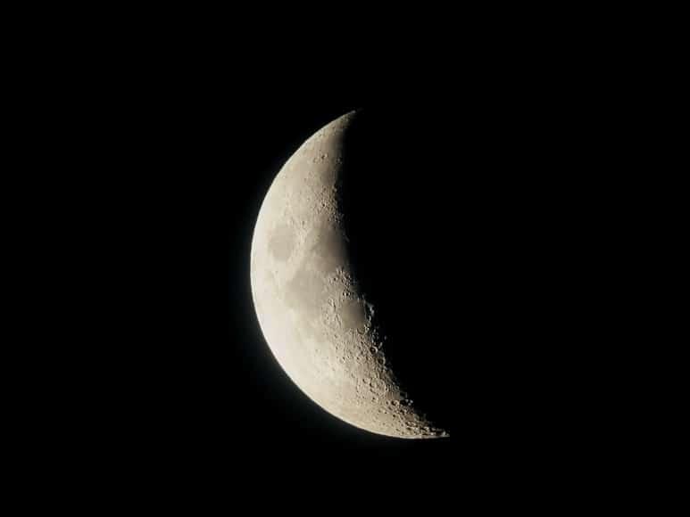 Moon in three quarter shadow