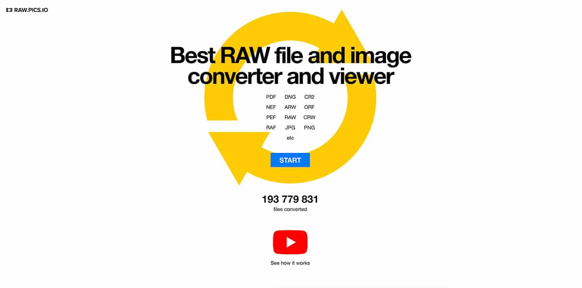 Raw.Pics.io is a clean and simple online tool for converting NEF photographs.