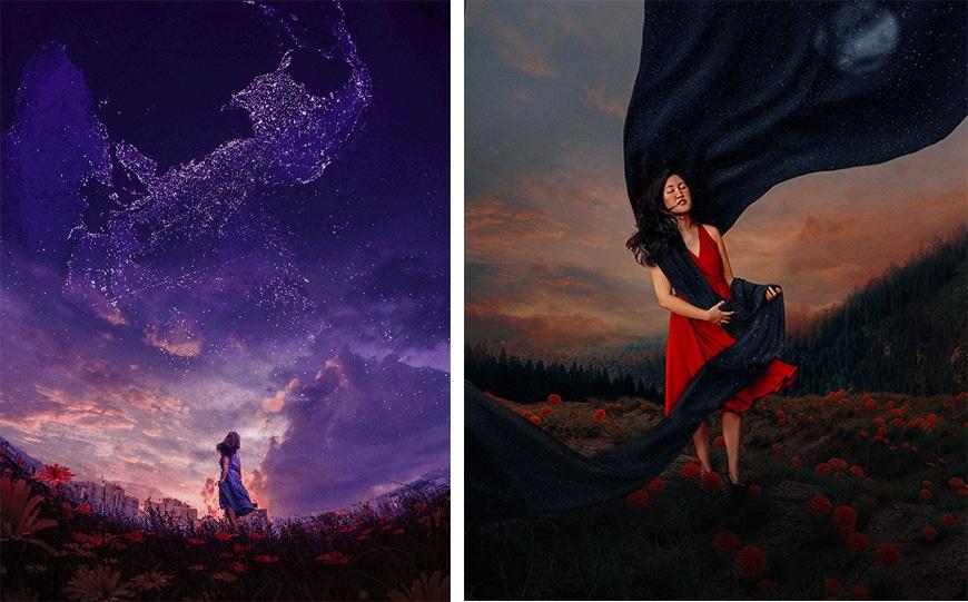 Beautiful fantasy imagery by Katrina Yu