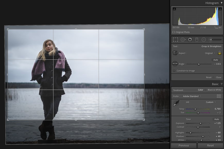 Cropping photos in lightroom