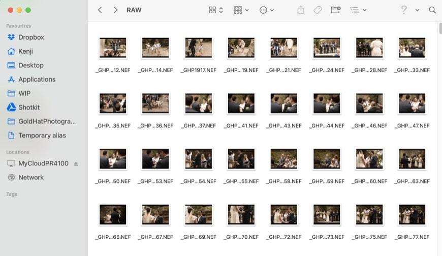 NEF files shot on Nikon D750