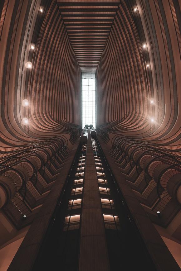 Symmetrical architectural interior