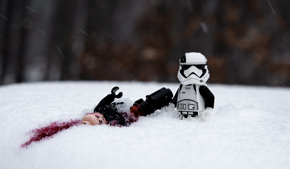 Stormtrooper in the snow