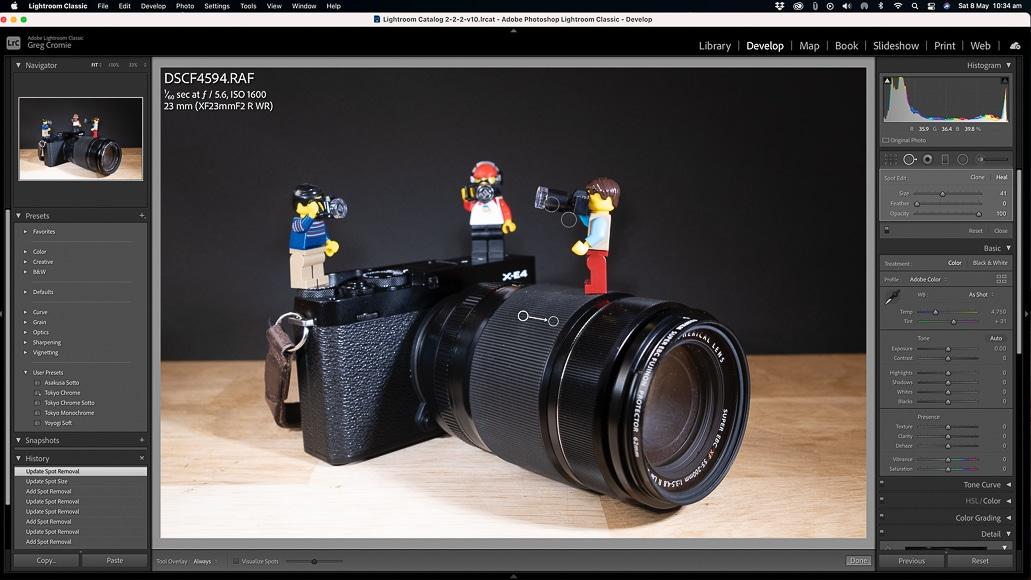 Editing macro photos in Lightroom
