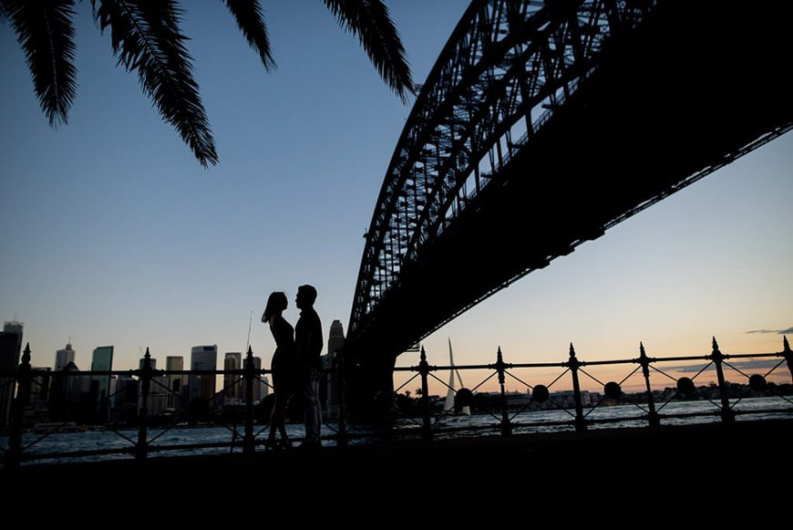 Silhouette engagement photo inspiration