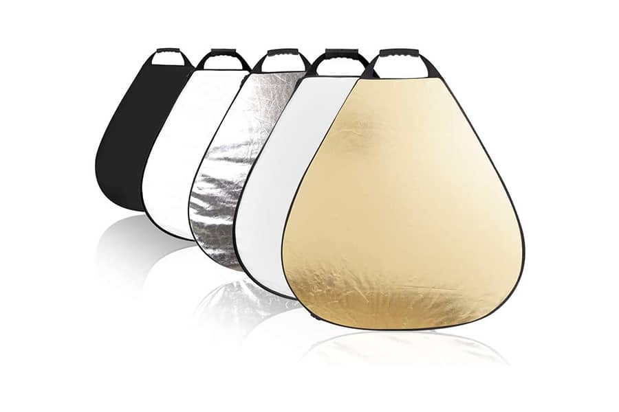 Fotocreat 5-in-1 Handle Triangle Reflector
