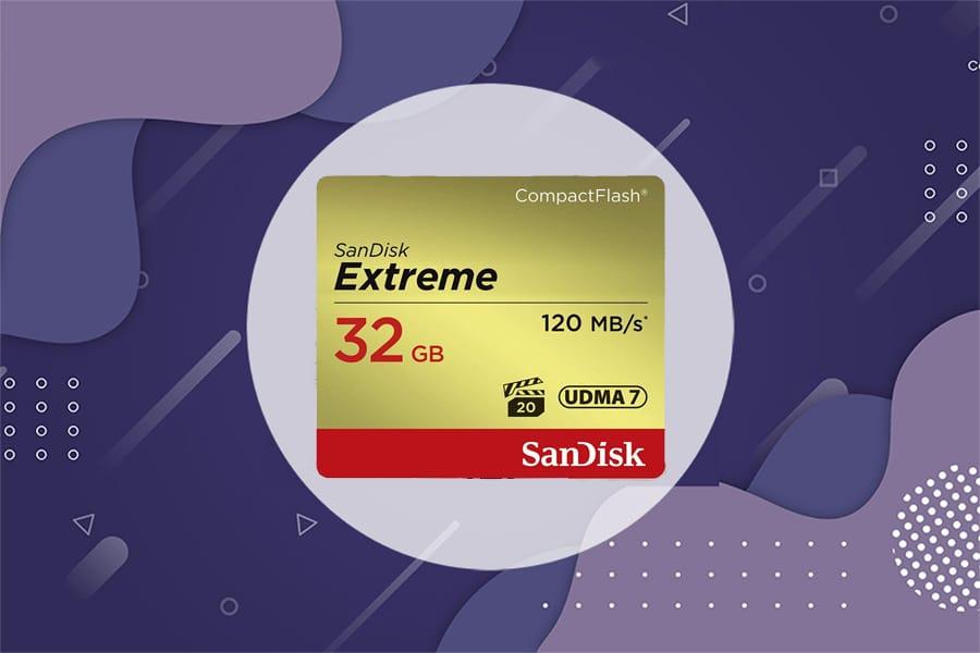 SanDisk Extreme CompactFlash Memory Card