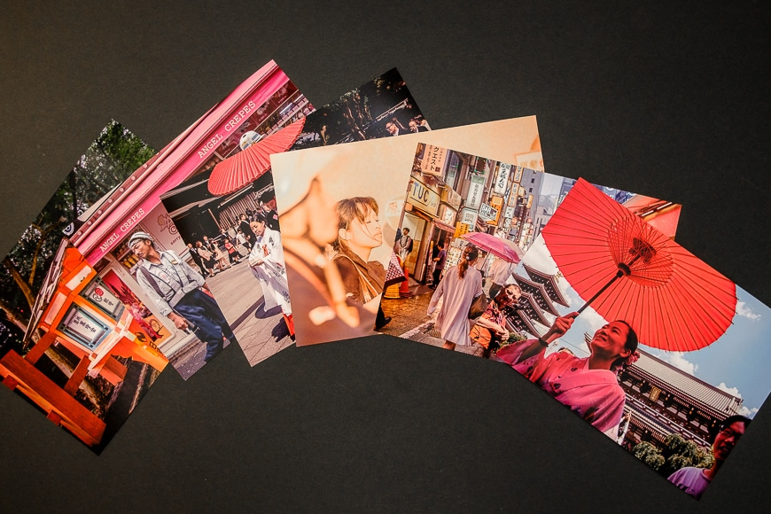 Travel photos with a glossy finish