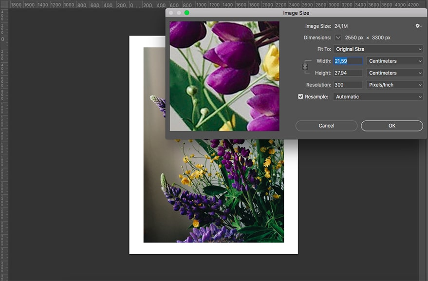 Exporting a photo
