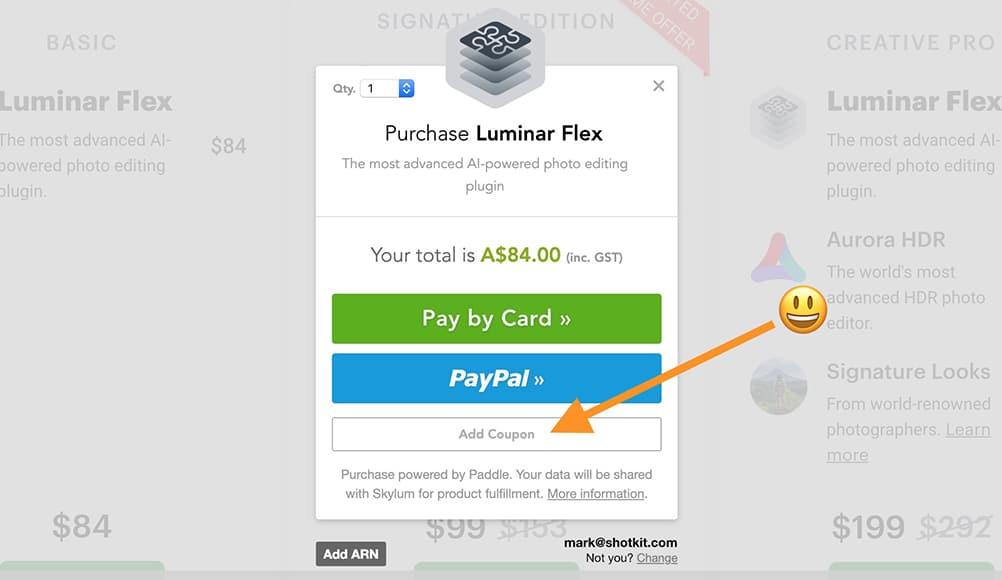 Luminar Flex Discount